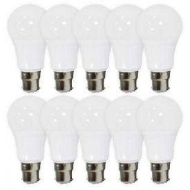 Lot de 10 ampoules LED B22 230V 10W(=60W) 880lm 4000K Standard