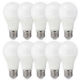 Lot de 10 ampoules LED E27 230V 10W(=60W) 880lm 3000K Standard