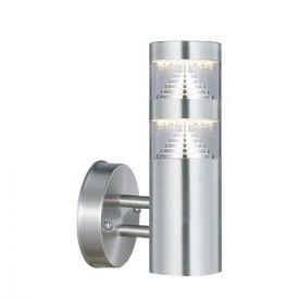 Applique LED extérieure montante 230V 9W 1000lm 4000K inox