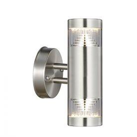 Applique LED extérieure bidirectionnelle 230V 9W 1000lm 4000K inox