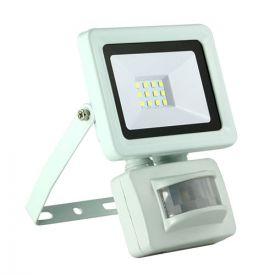 Projecteur extérieur LED extra plat à détection 230V 10W 900lm 4000°K blanc