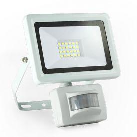 Projecteur extérieur LED extra plat à détection 230V 20W 1800lm 4000°K blanc