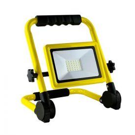 Projecteur de chantier LED extra plat 230V 30W 2700lm 4000°K IP65