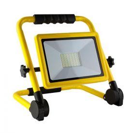 Projecteur de chantier LED extra plat 230V 50W 4500lm 4000°K IP65