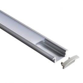 Lot de 2 profils aluminium à encastrer pour ruban LED - 1m