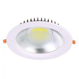 Downlight LED COB à encastrer 230V 15W 1500lm 4000°K 190mm blanc