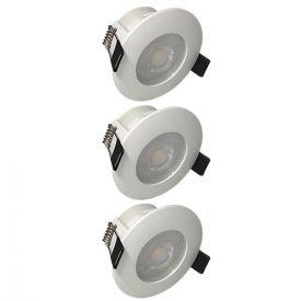 Lot de 3 spots LED remplaçables encastrables 80mm 230V 3x5W 400lm 2700°K blanc
