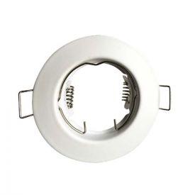Support de spot encastré fixe rond 80mm blanc