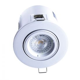 Spot LED encastrable et orientable BBC rond 100mm GU10 230V 5W 380lm 2700K blanc