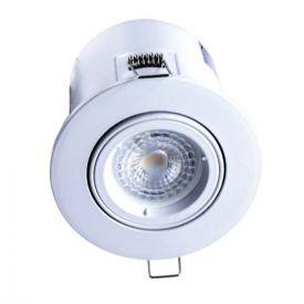 Spot LED encastrable et orientable BBC rond 100mm GU10 230V 5W 380lm 4000K blanc