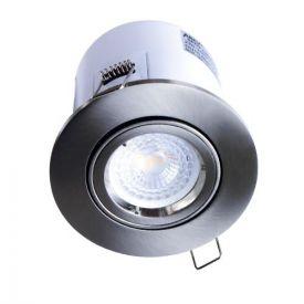 Spot LED encastrable et orientable BBC rond 100mm GU10 230V 5W 380lm 2700K alu brossé