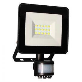 Projecteur extérieur LED extra plat à détection 230V 10W 700lm 4000K noir