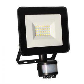 Projecteur extérieur LED extra plat à détection 230V 20W 1500lm 4000K noir