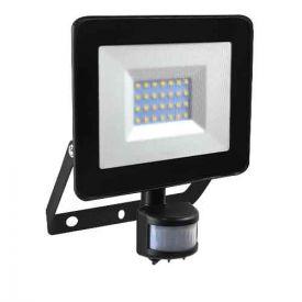 Projecteur extérieur LED extra plat à détection 230V 30W 2400lm 4000K noir