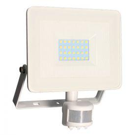 Projecteur extérieur LED extra plat à détection 230V 30W 2400lm 4000K blanc