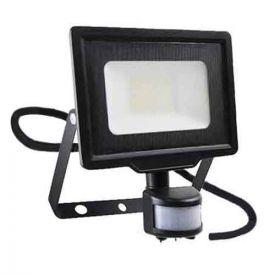 Projecteur extérieur LED extra plat précâblé à détection 230V 20W 1700lm 4000K noir