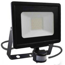 Projecteur extérieur LED extra plat précâblé à détection 230V 30W 2550lm 4000K noir