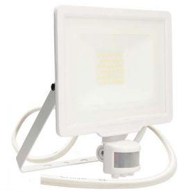 Projecteur extérieur LED extra plat précâblé à détection 230V 20W 1700lm 4000K blanc