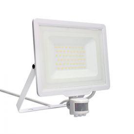 Projecteur extérieur LED extra plat précâblé à détection 230V 50W 4250lm 4000K blanc