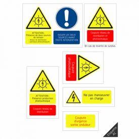 Etiquette de signalisation photovoltaïque - Partie AC