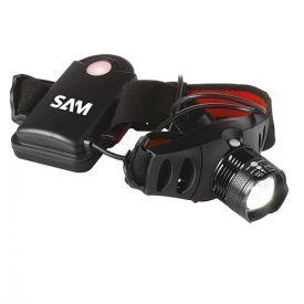 SAM OUTILLAGE Lampe frontale LED à piles 6W 145lm 6x9cm noir - FRONT6Z