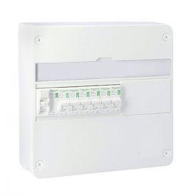 SCHNEIDER RESI9 XP Tableau électrique prééquipé 1 rangée 1ID 63A 6 disjoncteurs