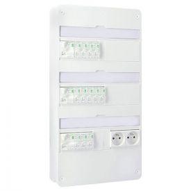 SCHNEIDER RESI9 XE Tableau électrique prééquipé auto 3 rangées disjoncteurs 3ID 63A 12