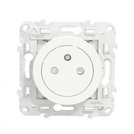SCHNEIDER Odace Prise de courant 2P+T affleurante blanc - S520052