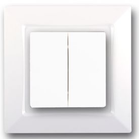 SIEMENS Delta One Interrupteur double va et vient complet - Blanc