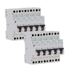 SIEMENS Lot de 10 disjoncteurs 20A Ph+N Courbe C 4.5kA 230V