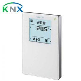 SIEMENS Appareil d'ambiance saillie KNX blanc avec sonde de température - Affichage LCD