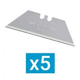 STANLEY Lames de cutter trapézoïdales sans trou - Lot de 5 - 0-11-921