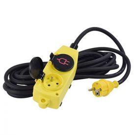 STANLEY Rallonge électrique avec bloc 4 prises à clapet 5m H07RN-F 3G1,5 - 227359