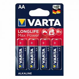 VARTA 4 Piles alcaline Longlife Max Power 1,5V LR06-AA - 4706110404