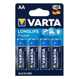 VARTA 4 Piles alcaline Longlife Power 1,5V LR06-AA - 4906110414