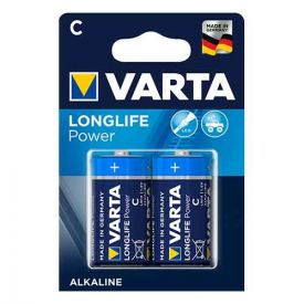 VARTA 2 Piles alcaline Longlife Power 1,5V LR14 - 4914110412