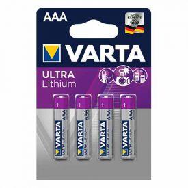 VARTA 4 Piles lithium 1,5V LR03-AAA - 6103301404