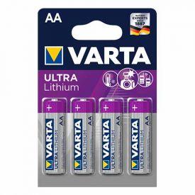 VARTA 4 Piles lithium 1,5V LR06-AA - 6106301404