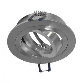 VISION-EL Support de spot rond aluminium brossé - 7712
