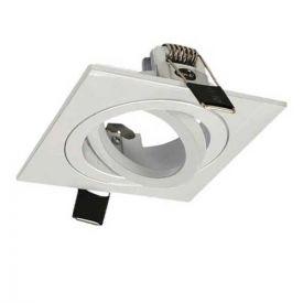 VISION-EL Support de spot carré orientable 88 x 88 mm blanc - 7714