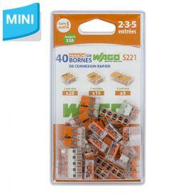 WAGO S221 Blister panaché de 40 bornes de connexion automatique 2, 3 et 5 fils