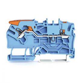 Wago TOPJOB®S Borne de passage à levier 2 fils 2,5mm² bleu - 2102-5204