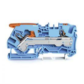 Wago TOPJOB®S Borne de passage à levier 2 fils 6mm² bleu- 2106-5204