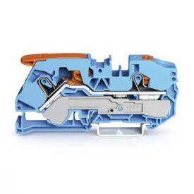 Wago TOPJOB®S Borne de passage à levier 2 fils 16mm² bleu - 2116-5204