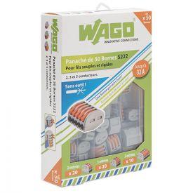WAGO Valisette 50 bornes de connexion automatique S222 pour fils souples et rigides