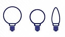 Ampoules LED de forme globe, mini globe et flamme
