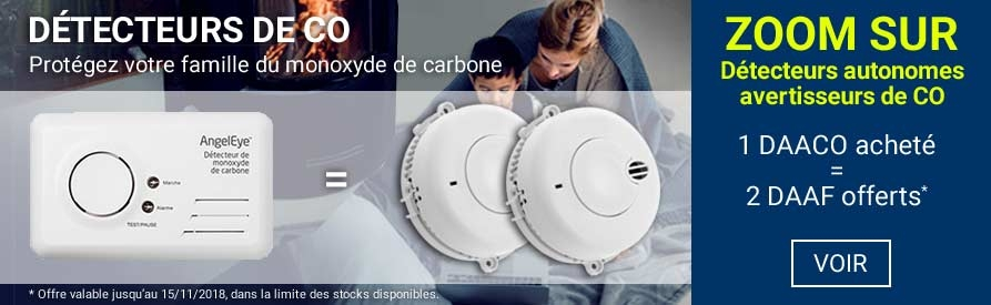 Offre 123elec sur les détecteurs de monoxyde de carbone